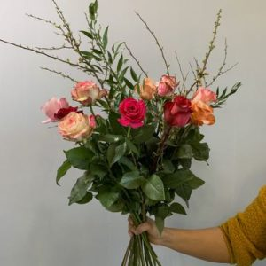 Boeket met rozen. A bouquet with roses
