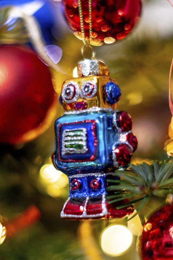 Kerstboom decoratie-figuurtjes: De robot.