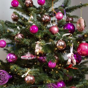 Decorated Christmas tree Pink (M)