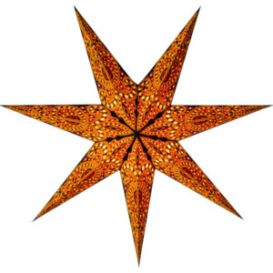 This is a gorgeous seven pointed Christmas star.