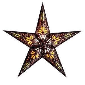 Starlightz Jaipur Brown/Yellow kerst ster