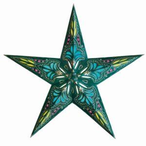 Deze Starlightz Jaipur Blue kerstster heeft een prachtig warm-blauw licht.