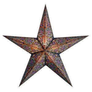 The Startlightz Kalea Blue Christmas star shines a warm colorful light.